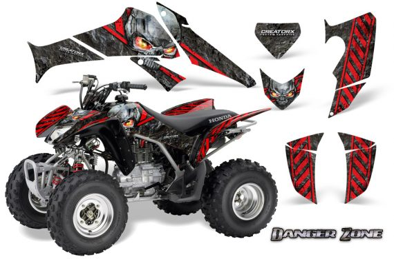 Honda TRX250 06 09 CreatorX Graphics Kit Danger Zone RB 570x376 - Honda TRX 250EX 2006-2018 Graphics