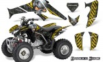 Honda TRX250 06 09 CreatorX Graphics Kit Danger Zone YB 150x90 - Honda TRX 250EX 2006-2018 Graphics