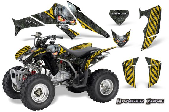 Honda TRX250 06 09 CreatorX Graphics Kit Danger Zone YB 570x376 - Honda TRX 250EX 2006-2018 Graphics