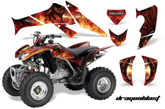 Honda TRX250 06 09 CreatorX Graphics Kit Dragonblast 570x376 - Honda TRX 250EX 2006-2018 Graphics
