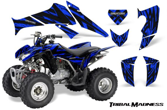 Honda TRX250 06 09 CreatorX Graphics Kit Tribal Madness Blue 570x376 - Honda TRX 250EX 2006-2018 Graphics