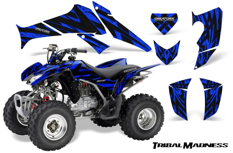 Honda-TRX250-06-09-CreatorX-Graphics-Kit-Tribal-Madness-Blue