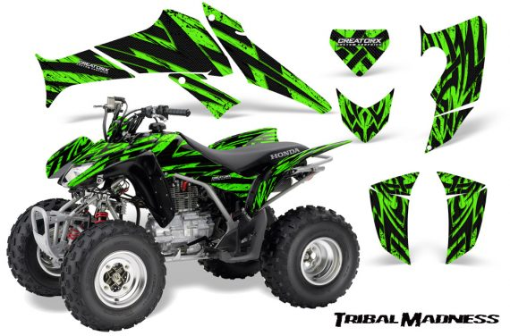 Honda TRX250 06 09 CreatorX Graphics Kit Tribal Madness Green 570x376 - Honda TRX 250EX 2006-2018 Graphics