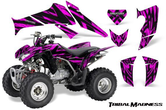 Honda TRX250 06 09 CreatorX Graphics Kit Tribal Madness Pink 570x376 - Honda TRX 250EX 2006-2018 Graphics