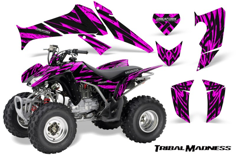 Honda-TRX250-06-09-CreatorX-Graphics-Kit-Tribal-Madness-Pink