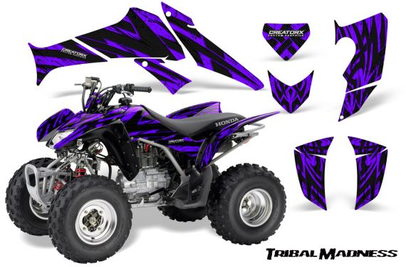 Honda TRX250 06 09 CreatorX Graphics Kit Tribal Madness Purple 570x376 - Honda TRX 250EX 2006-2018 Graphics