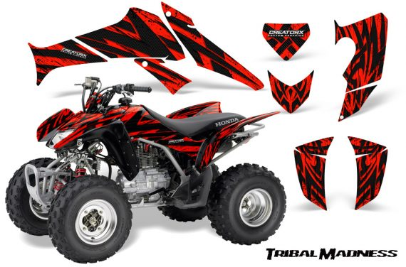 Honda TRX250 06 09 CreatorX Graphics Kit Tribal Madness Red 570x376 - Honda TRX 250EX 2006-2018 Graphics