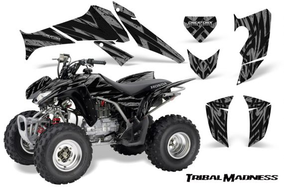 Honda TRX250 06 09 CreatorX Graphics Kit Tribal Madness Silver 570x376 - Honda TRX 250EX 2006-2018 Graphics