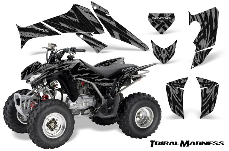 Honda-TRX250-06-09-CreatorX-Graphics-Kit-Tribal-Madness-Silver