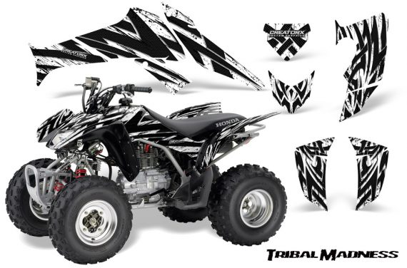 Honda TRX250 06 09 CreatorX Graphics Kit Tribal Madness White 570x376 - Honda TRX 250EX 2006-2018 Graphics