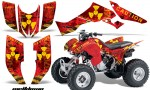 Honda TRX300 07 12 AMR Graphics Kit Meltdown YR 150x90 - Honda TRX 300EX 2007-2013 Graphics