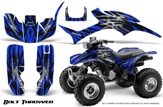 Honda TRX300 1993 2006 CreatorX Graphics Kit Bolt Thrower Blue 570x376 - Honda TRX 300EX 1993-2006 Graphics