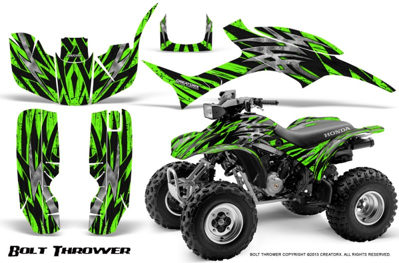 Honda-TRX300-1993-2006-CreatorX-Graphics-Kit-Bolt-Thrower-Green