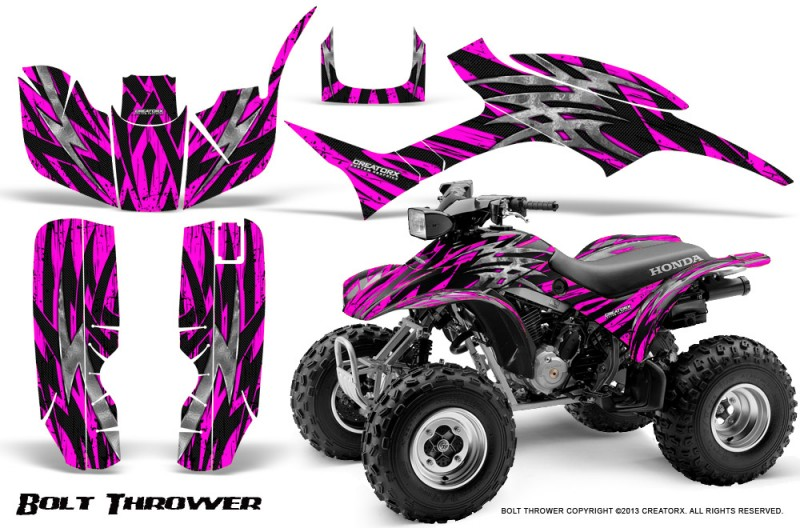 Honda-TRX300-1993-2006-CreatorX-Graphics-Kit-Bolt-Thrower-Pink-BB