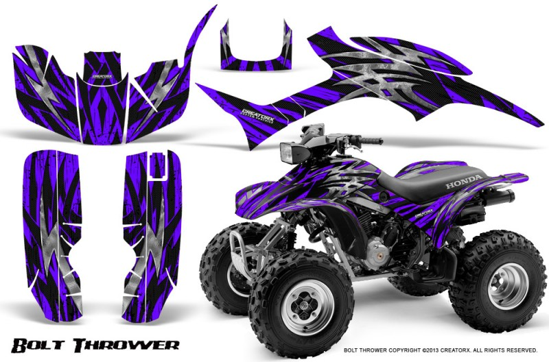 Honda-TRX300-1993-2006-CreatorX-Graphics-Kit-Bolt-Thrower-Purple