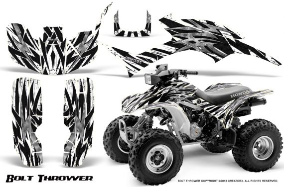 Honda TRX300 1993 2006 CreatorX Graphics Kit Bolt Thrower White 570x376 - Honda TRX 300EX 1993-2006 Graphics
