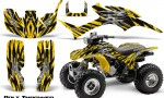 Honda TRX300 1993 2006 CreatorX Graphics Kit Bolt Thrower Yellow 150x90 - Honda TRX 300EX 1993-2006 Graphics