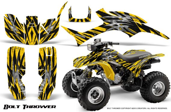 Honda TRX300 1993 2006 CreatorX Graphics Kit Bolt Thrower Yellow 570x376 - Honda TRX 300EX 1993-2006 Graphics