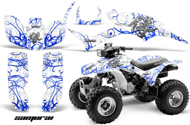 Honda-TRX300-1993-2006-CreatorX-Graphics-Kit-Samurai-Blue-White