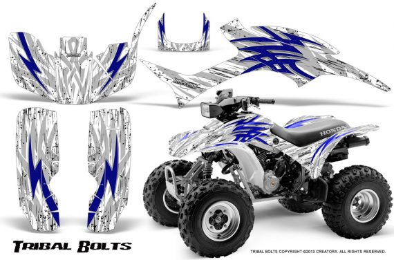 Honda TRX300 1993 2006 CreatorX Graphics Kit Tribal Bolts Blue White 570x376 - Honda TRX 300EX 1993-2006 Graphics