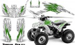Honda TRX300 1993 2006 CreatorX Graphics Kit Tribal Bolts Green White 150x90 - Honda TRX 300EX 1993-2006 Graphics