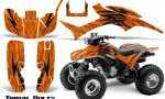Honda TRX300 1993 2006 CreatorX Graphics Kit Tribal Bolts Orange 150x90 - Honda TRX 300EX 1993-2006 Graphics