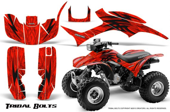 Honda TRX300 1993 2006 CreatorX Graphics Kit Tribal Bolts Red BB 570x376 - Honda TRX 300EX 1993-2006 Graphics