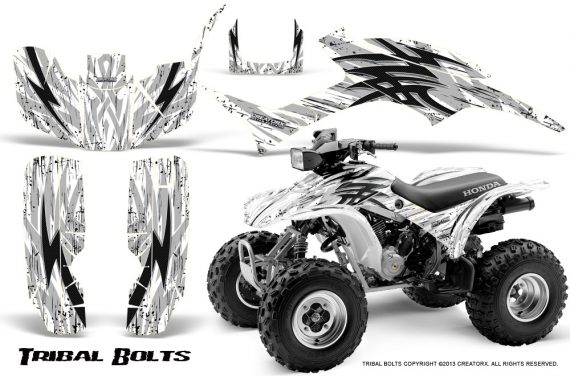 Honda TRX300 1993 2006 CreatorX Graphics Kit Tribal Bolts White 570x376 - Honda TRX 300EX 1993-2006 Graphics