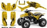 Honda TRX300 1993 2006 CreatorX Graphics Kit Tribal Bolts Yellow BB 150x90 - Honda TRX 300EX 1993-2006 Graphics