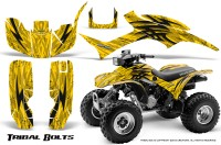 Honda-TRX300-1993-2006-CreatorX-Graphics-Kit-Tribal-Bolts-Yellow-BB
