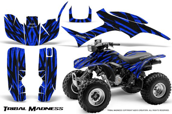Honda TRX300 1993 2006 CreatorX Graphics Kit Tribal Madness Blue 570x376 - Honda TRX 300EX 1993-2006 Graphics