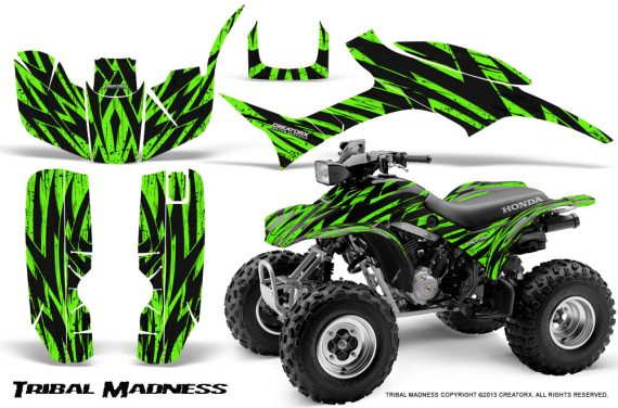 Honda TRX300 1993 2006 CreatorX Graphics Kit Tribal Madness Green 570x376 - Honda TRX 300EX 1993-2006 Graphics