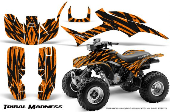 Honda TRX300 1993 2006 CreatorX Graphics Kit Tribal Madness Orange 570x376 - Honda TRX 300EX 1993-2006 Graphics