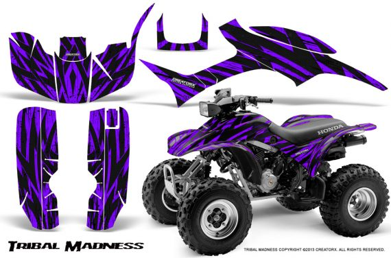 Honda TRX300 1993 2006 CreatorX Graphics Kit Tribal Madness Purple 570x376 - Honda TRX 300EX 1993-2006 Graphics
