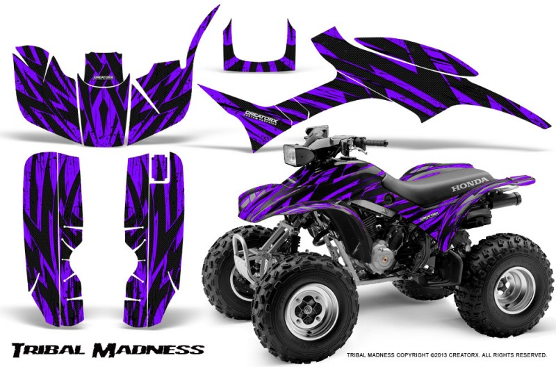 Honda-TRX300-1993-2006-CreatorX-Graphics-Kit-Tribal-Madness-Purple