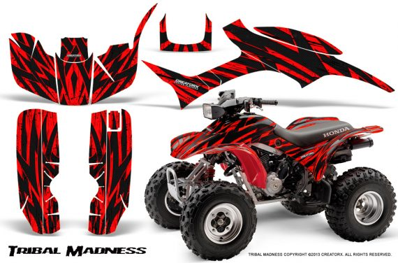 Honda TRX300 1993 2006 CreatorX Graphics Kit Tribal Madness Red 570x376 - Honda TRX 300EX 1993-2006 Graphics