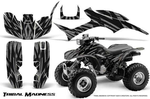 Honda TRX300 1993 2006 CreatorX Graphics Kit Tribal Madness Silver 570x376 - Honda TRX 300EX 1993-2006 Graphics