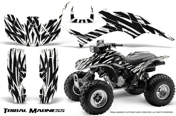 Honda TRX300 1993 2006 CreatorX Graphics Kit Tribal Madness White 570x376 - Honda TRX 300EX 1993-2006 Graphics