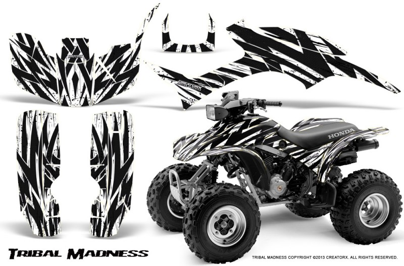 Honda-TRX300-1993-2006-CreatorX-Graphics-Kit-Tribal-Madness-White