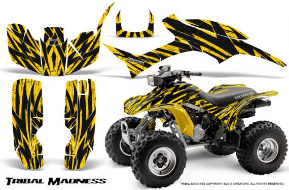 Honda TRX300 1993 2006 CreatorX Graphics Kit Tribal Madness Yellow 570x376 - Honda TRX 300EX 1993-2006 Graphics