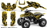 Honda TRX300 1993 2006 CreatorX Graphics Kit Tribal Madness Yellow BB 150x90 - Honda TRX 300EX 1993-2006 Graphics