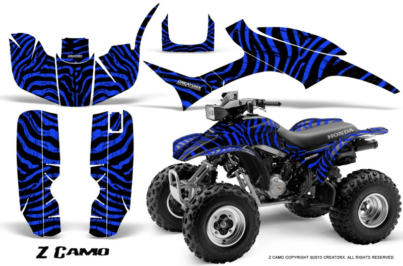Honda-TRX300-1993-2006-CreatorX-Graphics-Kit-ZCamo-Black-Blue
