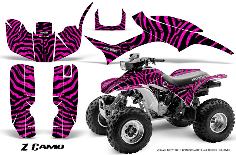 Honda-TRX300-1993-2006-CreatorX-Graphics-Kit-ZCamo-Black-Pink
