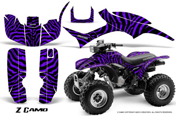 Honda TRX300 1993 2006 CreatorX Graphics Kit ZCamo Black Purple 570x376 - Honda TRX 300EX 1993-2006 Graphics