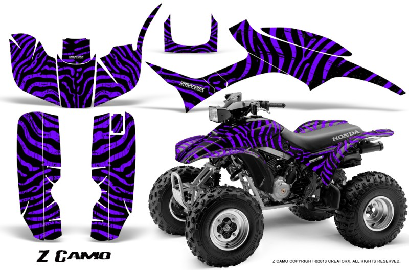 Honda-TRX300-1993-2006-CreatorX-Graphics-Kit-ZCamo-Black-Purple