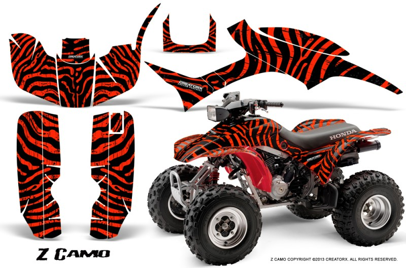 Honda-TRX300-1993-2006-CreatorX-Graphics-Kit-ZCamo-Black-Red
