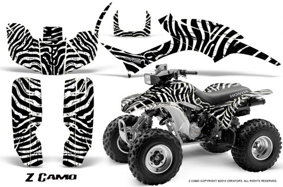 Honda TRX300 1993 2006 CreatorX Graphics Kit ZCamo Black White 570x376 - Honda TRX 300EX 1993-2006 Graphics