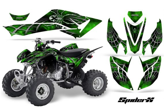 Honda TRX400EX 08 14 CreatorX Graphics Kit SpiderX Green 570x376 - Honda TRX 400EX 2008-2016 Graphics