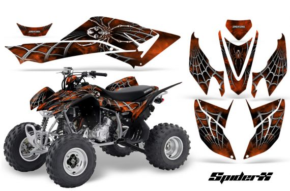 Honda TRX400EX 08 14 CreatorX Graphics Kit SpiderX Orange 570x376 - Honda TRX 400EX 2008-2016 Graphics