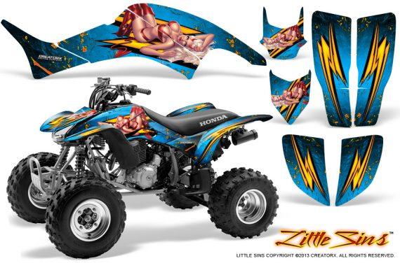 Honda TRX400EX 99 07 CreatorX Graphics Kit Little Sins BlueIce 570x376 - Honda TRX 400EX 1999-2007 Graphics